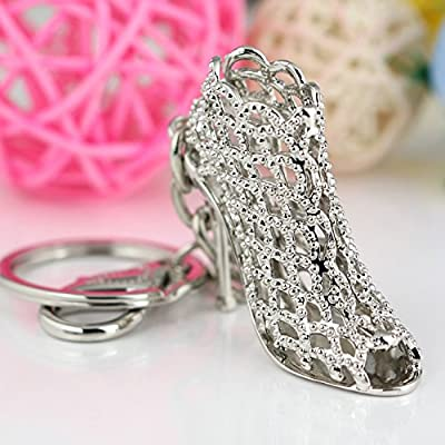 Maycom« High-heeled Shoe Keychain Creative Fashion Refinement Lady Gift Hollow Shoes Keyring Key Chain Ring Keyfob 86113