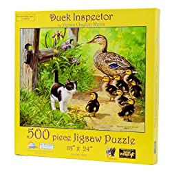 Duck Inspector 500 Piece Puzzle by Sunsout #51917