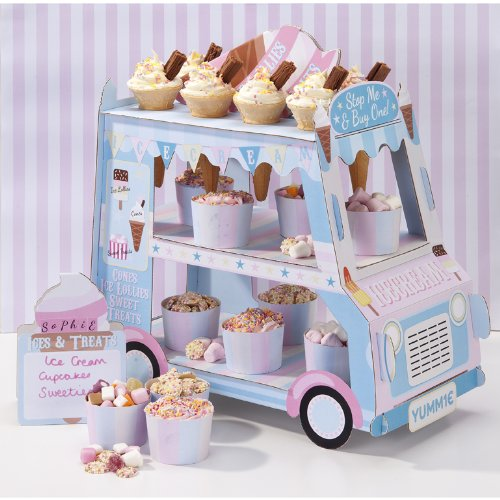 Talking Tables Street Stalls Card 3-Tier Ice Cream Van Stand front-55256