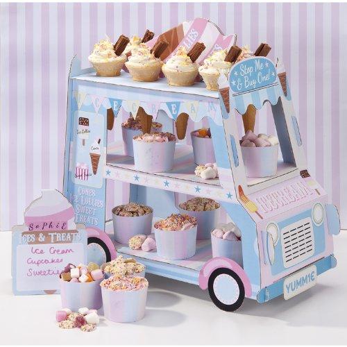 Ice Cream Van Stand With 12 Paper Ice Cream Cones
