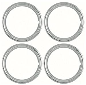 Set of 4 Chrome 14″ Universal 1.75 inch Beauty Trim Rings 1514C