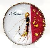 目細八郎兵衛商店 金沢の加賀繍を始めとする伝統工芸 お洒落な毛針のレジンアクセサリー(赤)