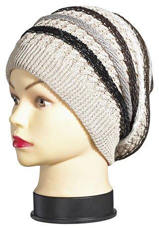Emeco Strickmütze Mütze LONG BEANIE Slouch RASTA KH130-149 viele Farben, BEIGE BRAUN-KH130