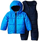 Columbia Baby-Boys Infant Bright Snow Set, Hyper Blue/Collegiate Navy, 18/24 Months