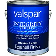 Valspar 004.6012090.007 Integrity Eggshell Latex Interior Wall Paint And Primer In One Paint