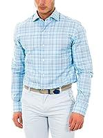 McGregor Camisa Hombre Robin Taino Burton 3 Tf Ls (Azul Celeste)