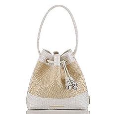 Trina Shoulder Bag<br>Macaroon Raffia