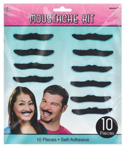 Amscan Classic 50's Mustaches 10 Ct