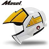 Masei フルフェイスへルメット ロボヘル911 イエロー HELMET XL MA-911-Y-XL