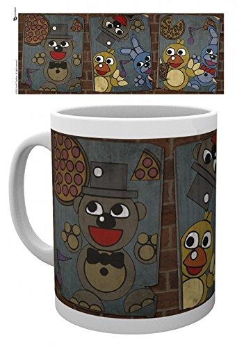 Set: Five Nights at Freddy's, Vintage Posters Tazza Da Caffè Mug (9x8 cm) e 1 Sticker sorpresa 1art1®