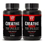 Creatine Tri-phase 5000mg, Perfect Blend of Creatine Monohydrate, Creatine HCL and Creatine Pyruvate (2 Bottles 180 Tablets)