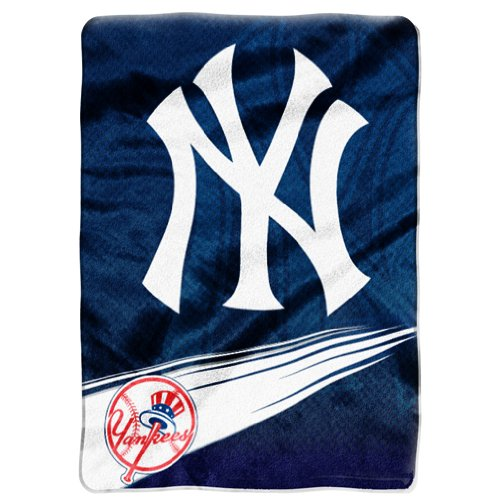 MLB New York Yankees Speed Plush Raschel Throw Blanket, 60x80-Inch at Amazon.com