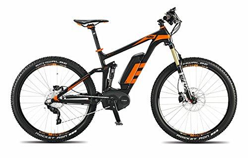MACINA LYCAN 27 GPS +, E-Mountainbike 2015, schwarz matt orange, RH 48, 20,90 kg