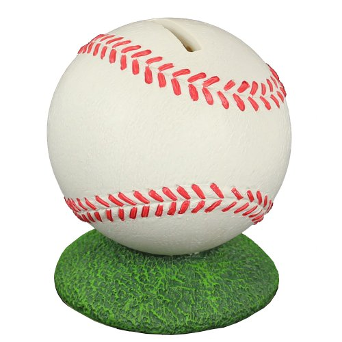 Sports Page Handpainted Baseball Bank by Russ Berrie