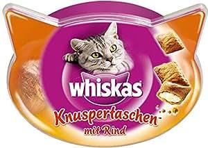 WHISKAS - Les Irrésistibles - Au Boeuf - Friandises pour chats - Boîte de 60 g - Lot de 8