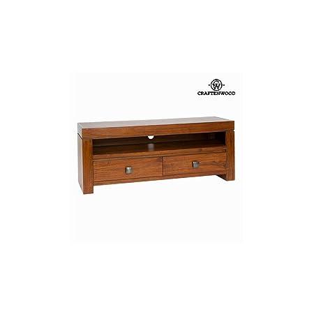 Meuble de télévision nature 2 tiroirs noyer - Collection Nogal by Craften Wood