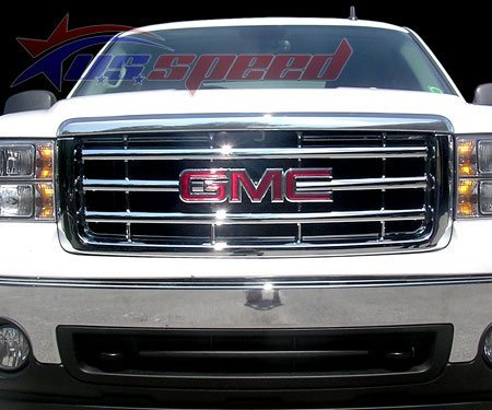 2007-Up Gmc Sierra Chrome Grille Overlay front-551561