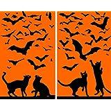 51KxiJzsx9L. SL500 SS160   WOWindow Posters Cats and Bats Silhouettes Halloween Window Decoration   $8.95!