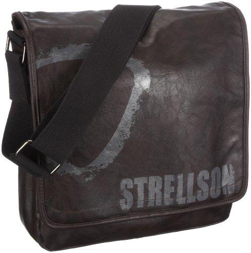 Strellson Messenger LV-Print 02/11/02081-860, Borsa uomo - Marrone/Marrone scuro, 30 x 31 x 6 cm (L x A x P)