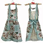 Hyzrz Women's Apron with Pockets, Black and Red