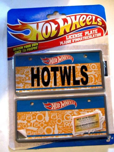 "Hot Wheels Design Your Own 5½"" License Plate - 1"