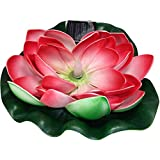 Solar Floating Water Lily 7'' Pad