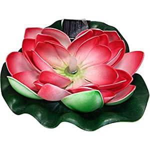 Solar Floating Water Lily 7 39 39 Pad Patio Lawn Garden