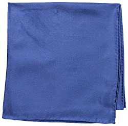 Countess Mara Men's For Every Occasion 100% Silk Pocket Square, Medium Blue, One Size