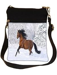 Snoogg Running Horse Cross Body Tote Bag / Shoulder Sling Carry Bag