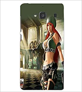 PRINTSWAG ACTION GIRL Designer Back Cover Case for XIAOMI REDMI 2S