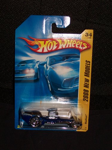 Hot Wheels 2008 034 34 New Models Blue Madfast Drag Racer - 1