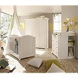 Dreams4Home Babyzimmer Set 'Dreamy', 2trg. Kleiderschrank, Babybett, Kommode, Wickelaufsatz, ohne Matratze, ohne...