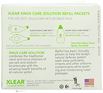 Neti Xlear Sinus Care Refill Packets, 20 Count