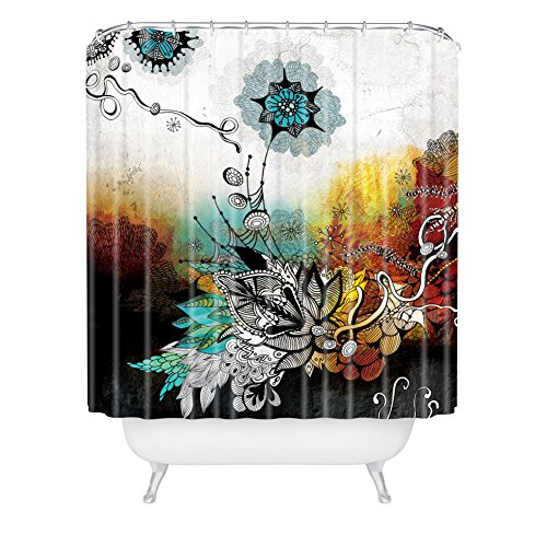 Deny Designs Iveta Abolina Frozen Dreams Extra Long Shower Curtain, 71 By 94-Inch front-366169