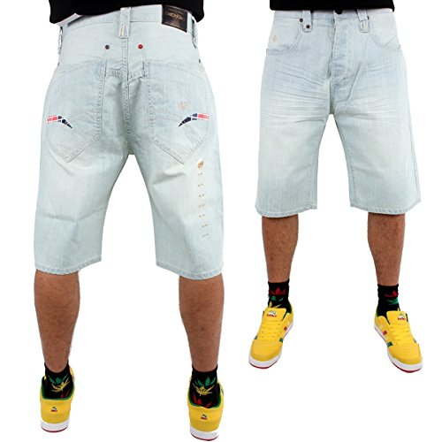 phat-farm-logo-officiel-homme-delavage-neige-baggy-short-en-jean-30-w
