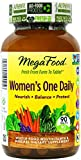 MegaFood Women's One Daily Tablets, 90 Count (Premium Packaging)