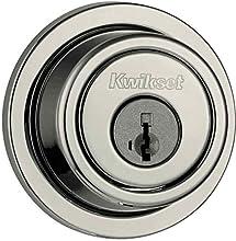 Kwikset 993 Round Contemporary Single Cylinder Deadbolt featuring SmartKey® in Satin Nickel
