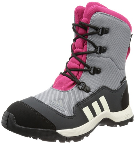 Adidas Performance ADISNOW II PL CP K Trekking & Hiking Shoes Unisex-Child Gray Grau (TECH GREY F12 / CHALK 2 / BLAST PINK F13) Size: 35