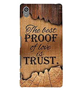 Proof Of Love Is Love Cute Fashion 3D Hard Polycarbonate Designer Back Case Cover for Sony Xperia Z5 Premium (5.5 Inches) :: Sony Xperia Z5 Premium Dual
