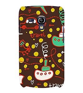 BROWN KIDDISH PATTERN 3D Hard Polycarbonate Designer Back Case Cover for Samsung Galaxy S3 Mini :: Samsung Galaxy S3 Mini i8190