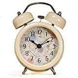 ONOR-Tech 3'' Farm Vintage Metal Twin Bell Alarm Clock With Light for Home decoration
