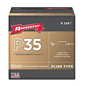Arrow Fastener 356 Genuine P35 3/8-Inch Staples, 5,040-Pack