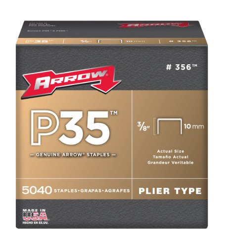 Arrow 356 Genuine P35 3/8-Inch Staples, 5,040-Pack