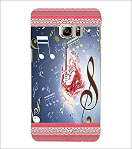 PrintDhaba Music Girl D-2484 Back Case Cover for SAMSUNG GALAXY NOTE 5 EDGE (Multi-Coloured)
