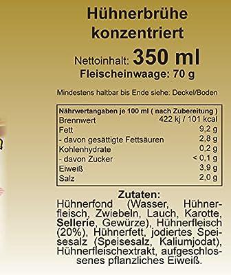 """""""Culina"""" Hühnerbrühe konzentriert 1:1,5 mit Hühnerfleisch, 350 ml. / Glas von Englert - Gewürze Shop"""