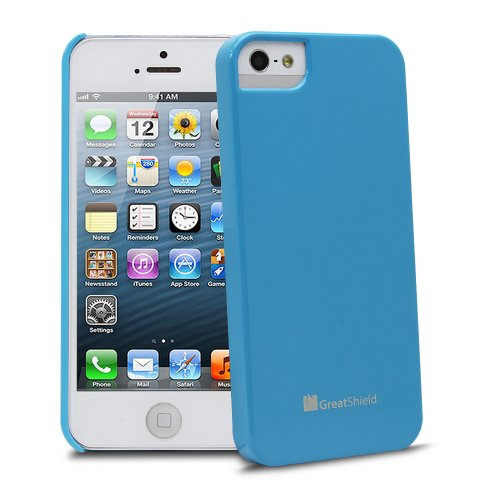 Greatshield Guardian Uv Glossy Series Slim Fit Protector Case For Apple Iphone 5 / 5S (Baby Blue)