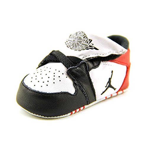 Nike Jordan Toddler Jordan 1st Crib (CB) White/Black/Gym Red Casual Shoe 2 Infants US