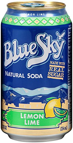 Blue Sky Natural Soda (Lemon Lime, 12-Ounce Cans, Pack of 24) (Lemon Soda Organic compare prices)