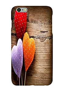 iSweven 3 hearts Printed Designer Mobile Phone Case Back Cover For Apple iPhone 6s (Matte Multicolor) iPH0130