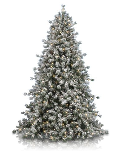 7' Balsam Hill Frosted Sugar Pine Artificial Christmas Tree - Clear
